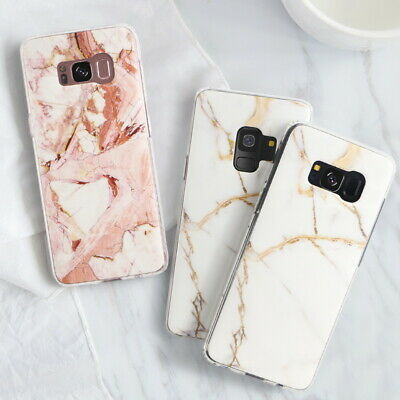 For Samsung Galaxy S10+ S10e S9 S8 Matte Marble Pattern Soft Silicone Case Cover 9