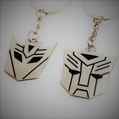 Metal Transformers Autobot & Decepticon Symbol Keychain [ONE PAIR] cosplay 2