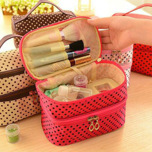 Women Cosmetic Make Up Travel Toiletry Bag Pouch Organizer Handbag Case Storage 8