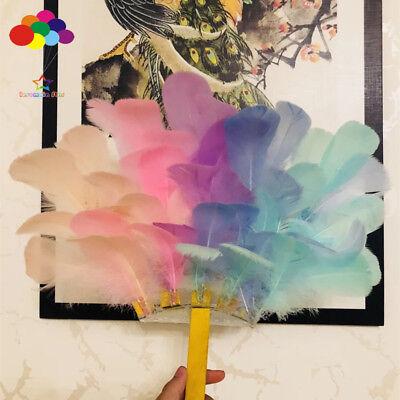 100pcs Natural Goose Feathers 8-12 Cm Swan Plume DIY Carnival Decoration Craft 5