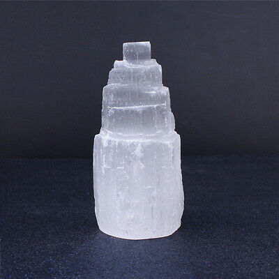 Large SELENITE TOWER Rough  Crystal Morocco Natural Carved Healing Energy 4