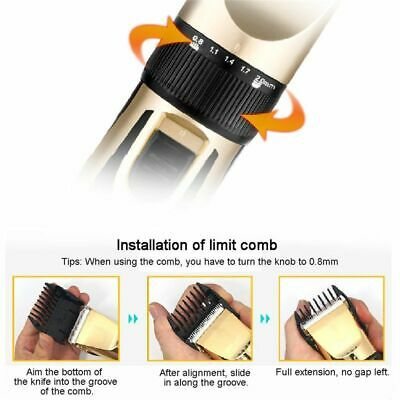 Dog Pet Hair Trimmer Professional Cat Shaver Grooming Clipper Kit Cordless Heavy 10