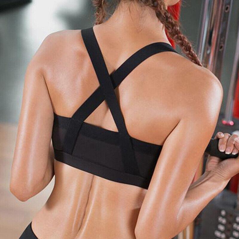 Damen Bügellos Gepolstert Sports Bra Komfort Bustier BH Nahtlos Seamless Push Up