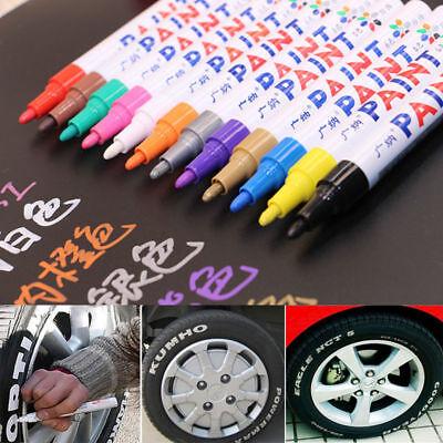 Oil-based Marker Permanent Paint Pen For steel rubber wood plastic glass 3