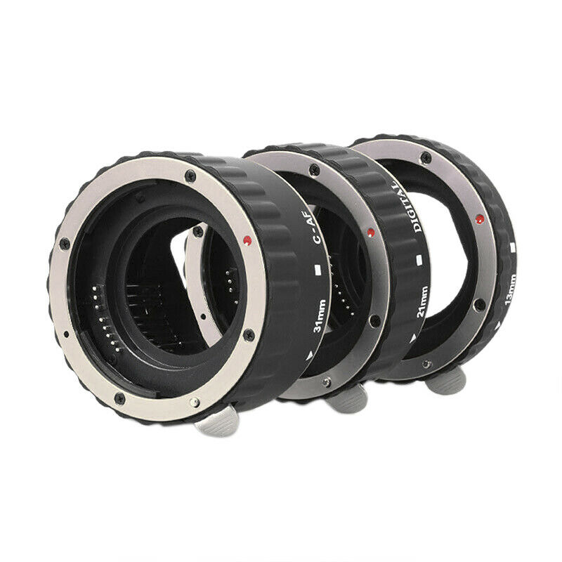 Metal Auto Focus AF Macro Extension Tube Lens Adapter Ring for Canon EOS U.P0UK