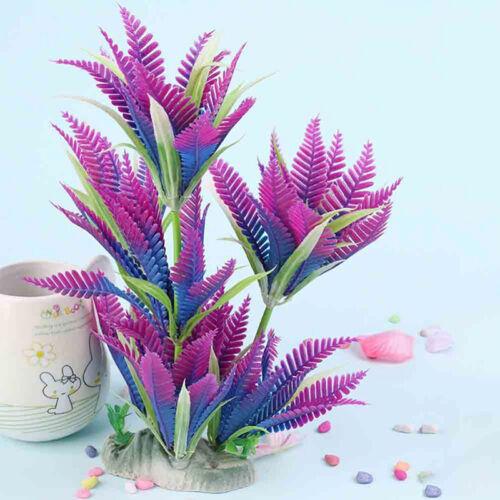 Plante Artificielle Aquatique en Plastique Voilet Deco Aquarium Décoration 27cm 4