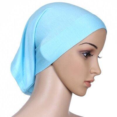 Muslim Women Hijab Under Scarf Inner Cap Bone Bonnet Neck Cover Cap Head Wrap 10