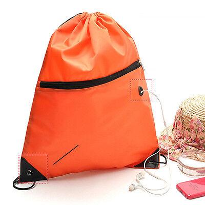Cinch Sack Backpack String Drawstring Gym Bag Tote School Sport Travel Rucksack 8