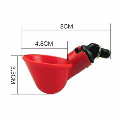 20pcs Poultry Water Drinking Cups Waterer Chicken Hen Plastic Automatic Drinker 5