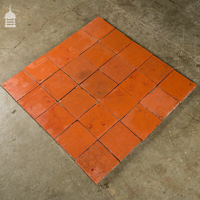 Reclaimed 6x6 Thick Red Quarry Tiles 6 Inch x 6 Inch Floor Tiles 4