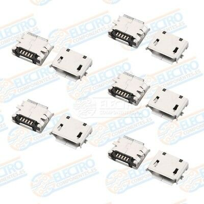 Conector Micro USB Tipo B Hembra soldar SMD standard - Lote 10 unidades - Arduin 3