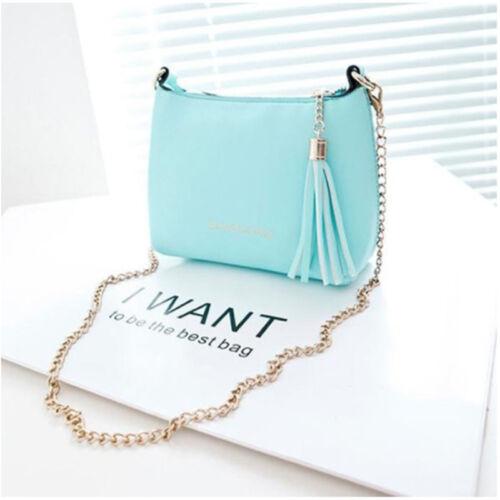 Women Ladies Tassel Bag Shoulder Handbag Small Shell Candy Chain Bag Bags B 3