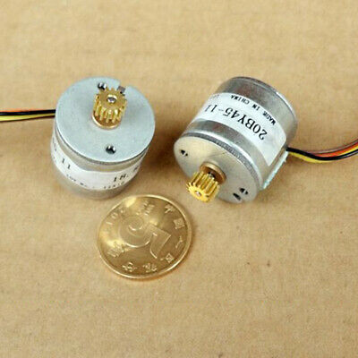 20BY45 Micro 20mm 2-phase 4-wire Precision Stepper Motor 18 Deg 14T Copper Gear 9