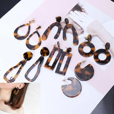 HOT Acrylic Statement Tortoise Shell Earrings Fashion Hoop Resin Dangle Earrings 12