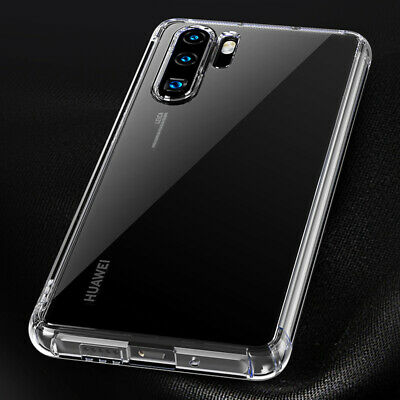 For Huawei P30 Pro Mate 20 Transparent Airbag Shockproof Silicone Case Cover 11