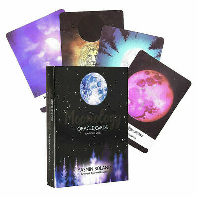 44pcs Tarot Cards Moonology Oracle Cards Deck Party Game Guidebook English 3
