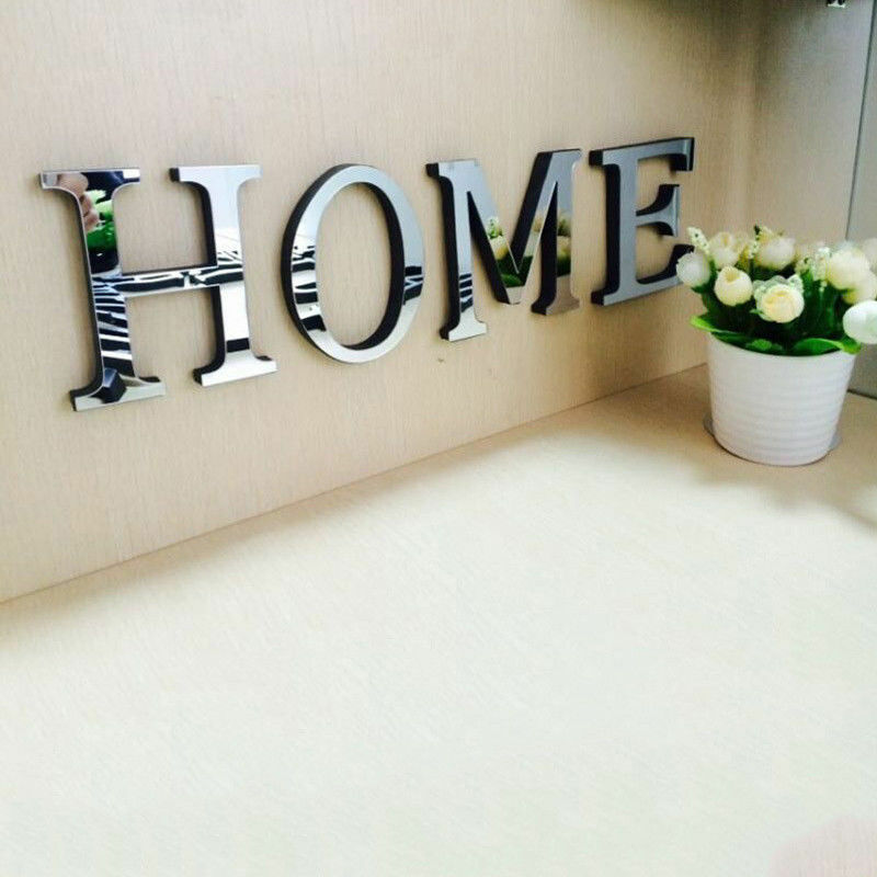 Wall Decor Stickers Letters : Letters diy d mirror acrylic wall sticker decals home