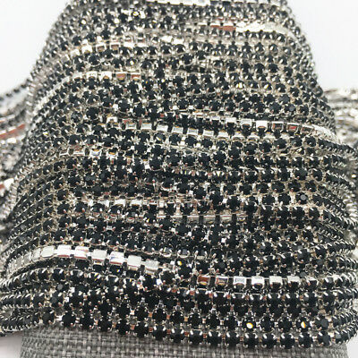 Wholesale 1-Row SS8 Cystal Rhinestone Trim Close Cup Chain Claw Jewelry Crafts 5