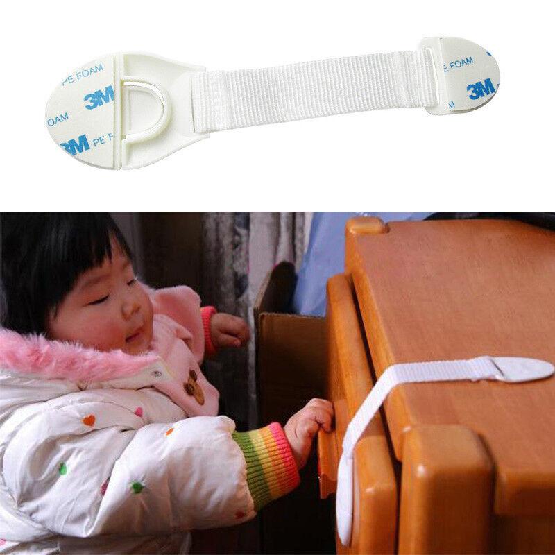 10x Baby Child Cupboard Cabinet Safety Locks Pet Proofing Door Drawer Fridge Kid 3