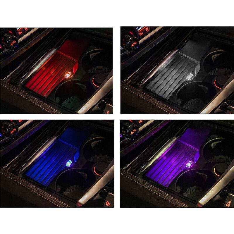 USB LED Mini Car Interior Light Strip Flexible Neon Atmosphere Tube Neon Lamp 2