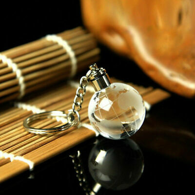 Crystal Ball 3D Engraved Key Chain Ring Keyring Keychain LED Glow Pendant Gift 5