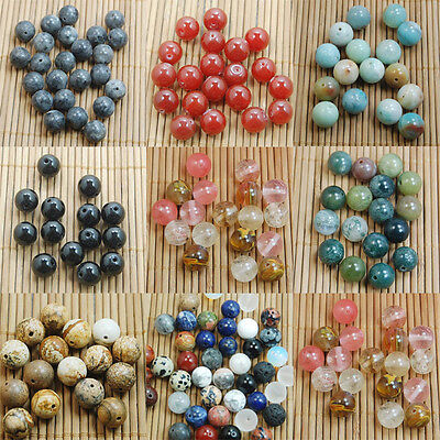 4MM 6MM 8MM10MM Natural Gemstone Round Spacer Beads Making Wholesale DIY Jewelry 3