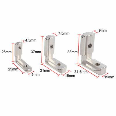 10X 6mm T-Slot Aluminum Profile L Brackets 90º Interior Corner Connector EU-2020 5