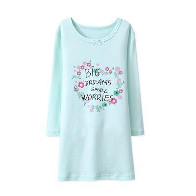 Girls Nightdress Nightie kid Pyjamas Cotton Long sleeve Nightwear Age 2-10 Years 5