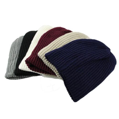 Mens Women Unisex Warm Oversize Beanie Skull Baggy Cap Slouchy Knit Hats