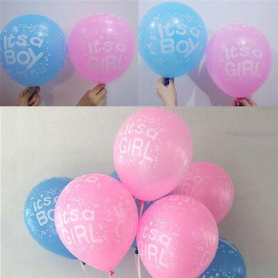 Paquet de 10 à 12 ballons en latex bébé fille / garçon ours bébé douche ball I-n 3