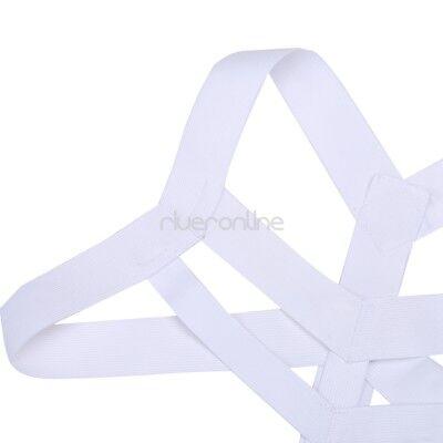 Sexy Männer Herren Nylon Body Dessous Unterwäsche Brust Harness Riemenbody Weiß 2