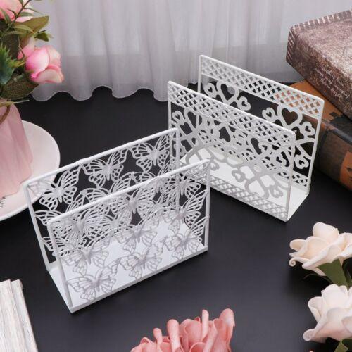 Metal Napkin Serviette Holder Dispenser Paper Tissue Rack Home Table Party Decor