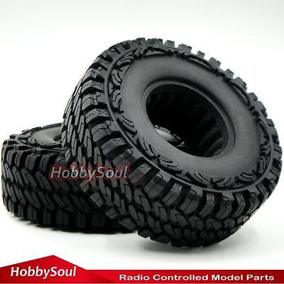 "4pcs RC 1//10 1.9/"" 115mm Crawler Tires Tyres W// Foam Fit 1.9 Alloy beadlock rims"