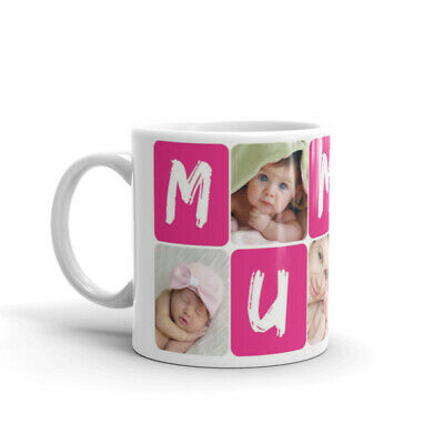 Personalised Mug Collage Photo Image Pictures Add Any Text Gift Tea Coffee Cup 4