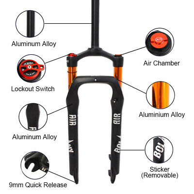 "KRSEC 26*4.0/"" Fat Bike Air Suspension Fork 120mm Snow Beach MTB Bicycle Forks"