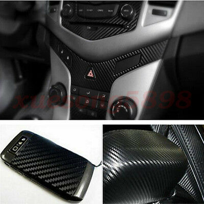 3D Waterproof Carbon Fiber Vinyl Car Wrap Sheet Roll Film Sticker Decal Paper 6