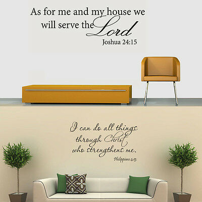 BIBLE VERSE WALL Decals Word Vinyl Removable Sticker Quote ...