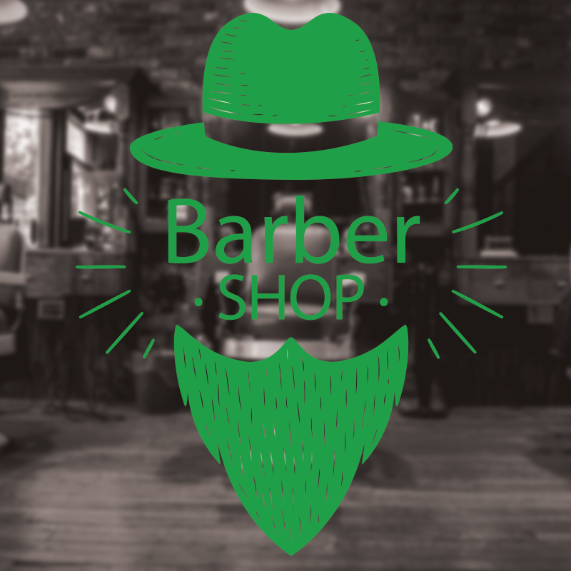 Barber Shop Sign, Barbershop window sign, hair salon window decal 4