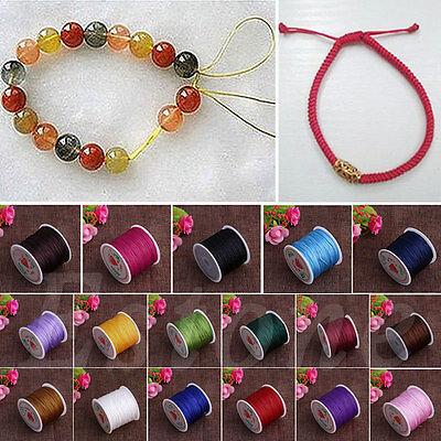 0.8mm Nylon Cord Thread Chinese Knot Macrame Rattail Bracelet Braided String 45M 2