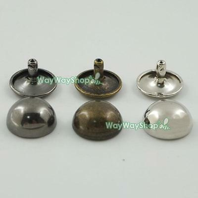 Double Mushroom Domed  Rivet Cap Stud Rapid Leather craft for Bags With Tool UK
