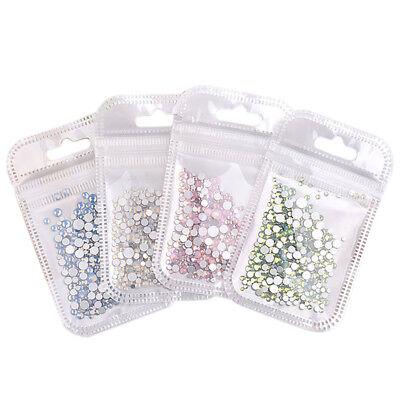 Multi Size Opal Jelly Nail Rhinestones Crystal Glass Gems For UV Gel 3D Nail Art 6
