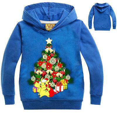 Natale Tema Bambino Felpe Con Cappuccio Giacca Top Vestiti 4