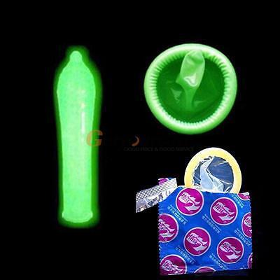 7pcs Night Light Adult G-Point Latex Condoms Luminous Condom Glow In The Dark