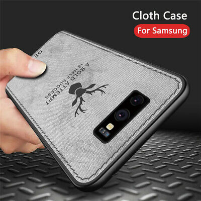 For Samsung Galaxy S10 Plus Note10 Case Hybrid Soft TPU Leather Matte Back Cover 11