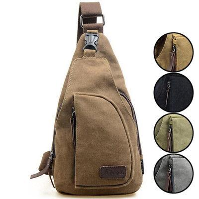Men's Small Chest Sling Bag Travel Hiking Cross Body Messenger Shoulder Backpack 2