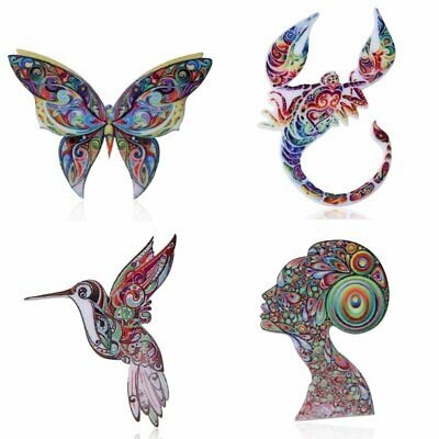 Hot Sale Rhinestone Crystal Animal Butterfly Cat Dog Brooch Pin Women Jewelly 5