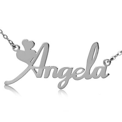 1b54386e82c390 3 of 5 Personalized 18K Gold Plated / Sterling Silver Name Plate Necklace  Fiolex Girls