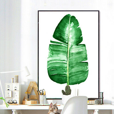 Tropical Plants Leaves Canvas Vintage Poster Wall Art Prints Modern Home Decor 2