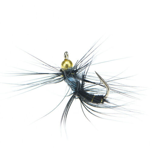 5pcs 10# fly nymph pheasant herl winged may fly trout perch fly fishing fliesS/&K