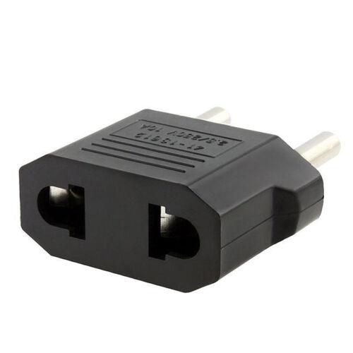 5pcs US USA to EU Euro Europe Power Wall Plug Converter Travel Adapter 4H 6
